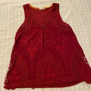 Altar'd state red lace blouse